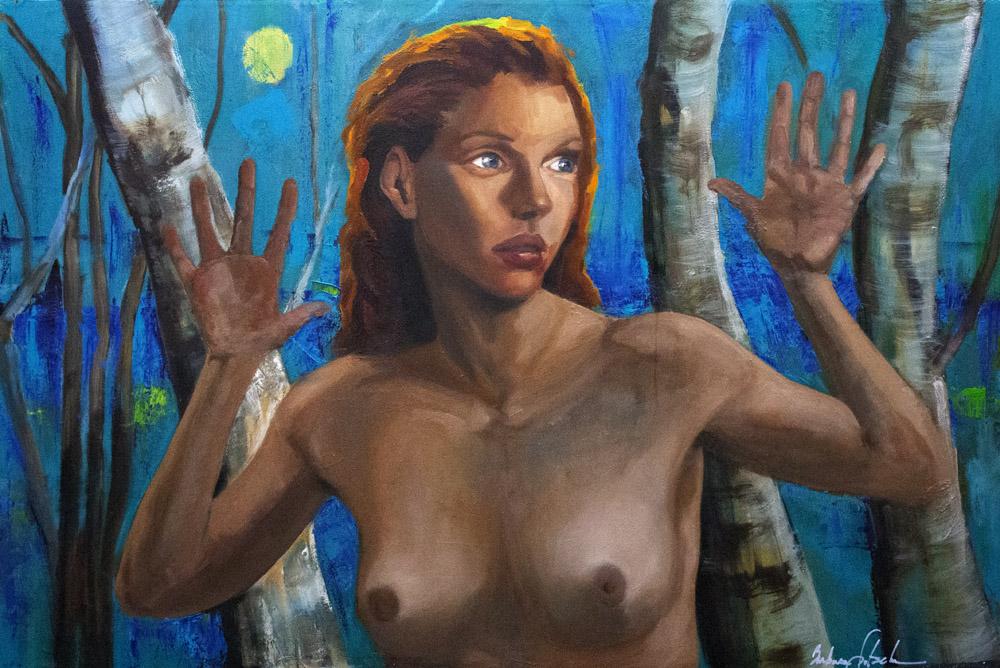 blue-girl-woods